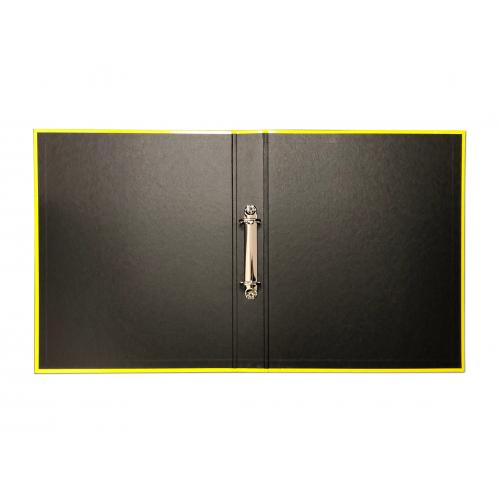 Elba Laminated Ring Binder A4, 40mm Spine, Yellow
