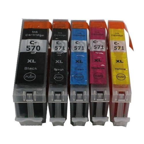 Compatible Canon PGI570XLBK + CLI571XLBKC/M/Y Ink Carts
