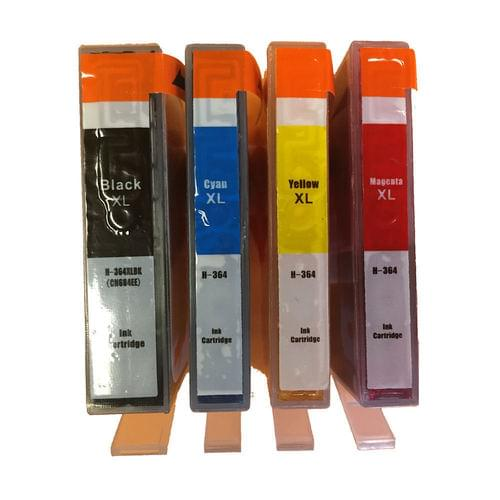 Compatible HP 364XL Value Pack Black/Cyan/Magenta/Yellow Ink Cart