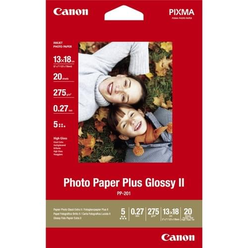 Canon Glossy II Photo Paper Plus PP-201 5X7 20 Sheets