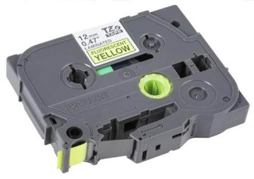 Compatible Brother TZEC31 12mm Black on Flourescent Yellow Tape
