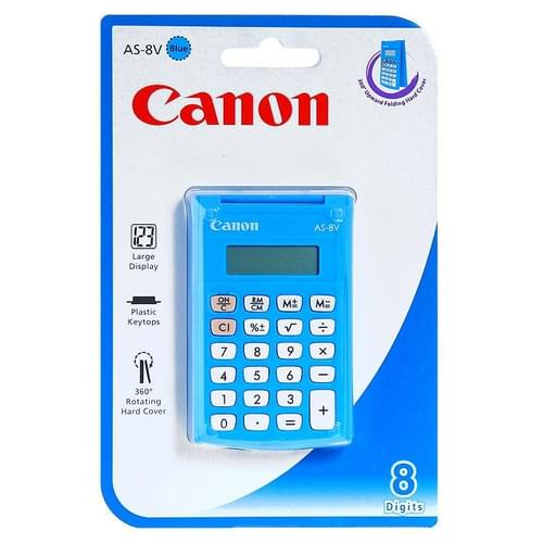 Canon AS8V Pocket Basic Calc Blue 8 Digit 5475B001