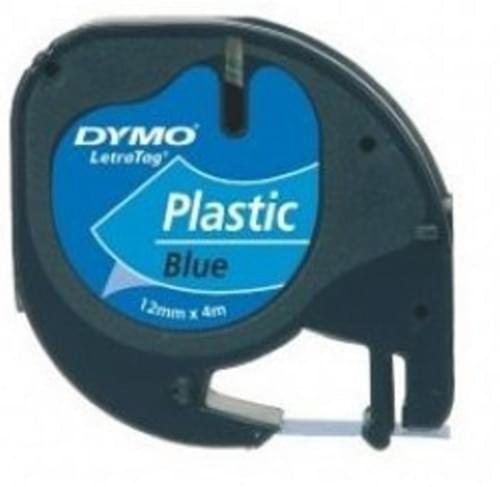 Compatible Dymo S0721650 12mm x 4m Black on Blue Label Tape