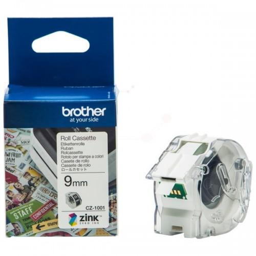 Brother CZ-1001 Full Colour Continuous Label Roll 9mm x 5m