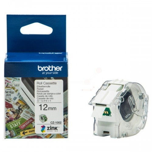 Brother CZ-1002 full Colour Continuous Label Roll 12mm x 5m