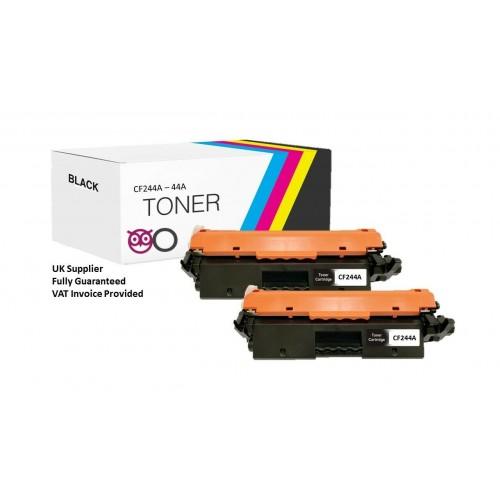 2 X Compatible HP CF244A Black Toner Cartridge