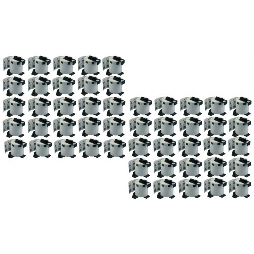 50 x Compatible Brother DK11209 Small 62x29mm Address Labels 800 labels per roll