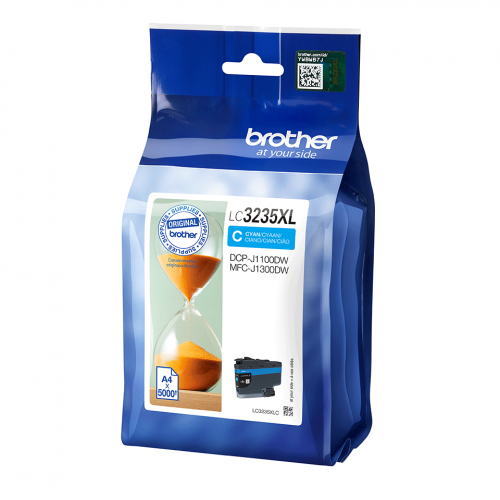 Genuine Brother LC3235XLC Cyan Ink Cartridge - 5000 Pages