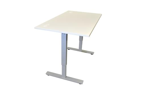 1600 x 800mm Electric Height Adjustable Sit / Stand Desk White / Light Grey Frame