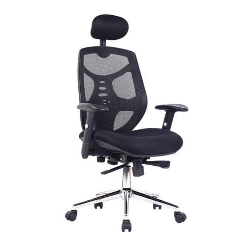 BAK High Back Mesh Executive Chair with Headrest