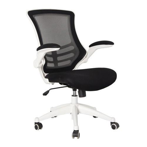 BAK White Frame Luca Chair - Black Mesh