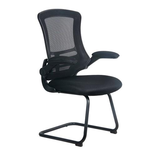 BAK Black Luca Visitor Chair with Black Frame