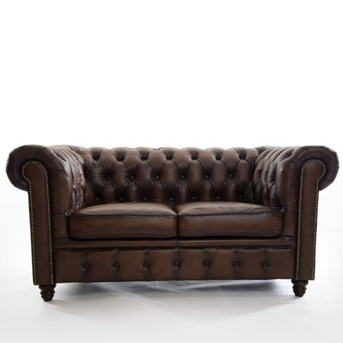 BAK Chesterfield Two Seater Leather Sofa
