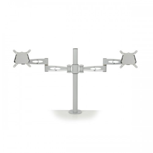 BAK Double Monitor Arm - Silver