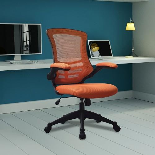 BAK Orange Mesh Luca Chair | BAK-05-07-O | BAK