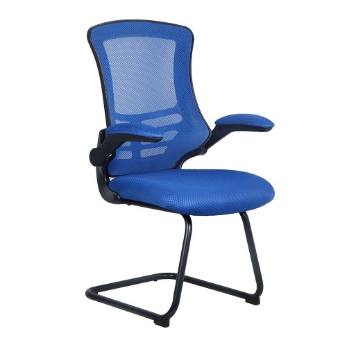 BAK Blue Luca Visitor Chair with Black Frame | BAK-05-06-B | BAK