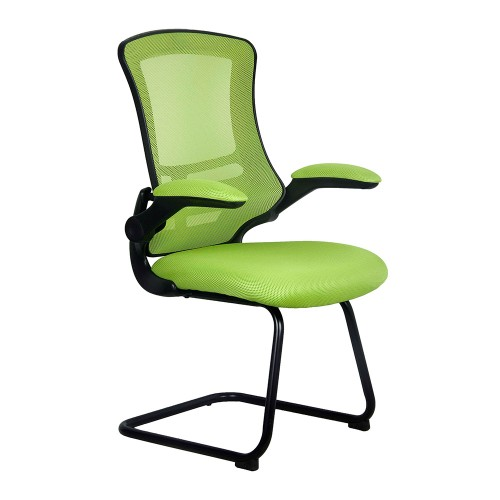 BAK Green Luca Visitor Chair with Black Frame