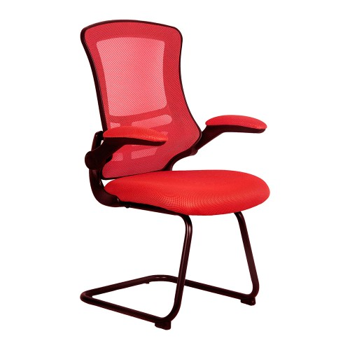 BAK Red Luca Visitor Chair with Black Frame