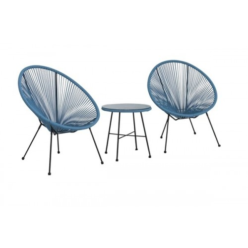 Blue Egg Chair Set