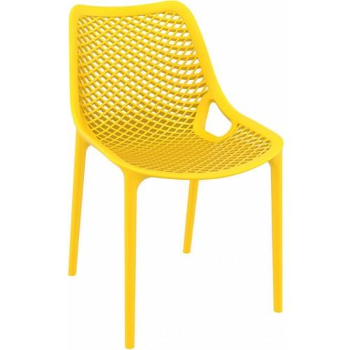 Ocean Polypropylene 4 Leg Chair - Yellow