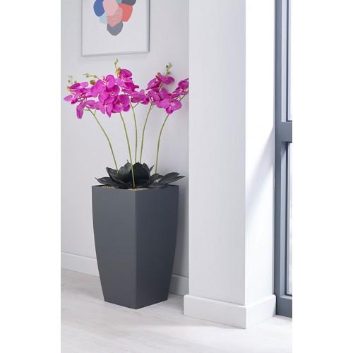 Magenta Orchid Floor Standing Planter