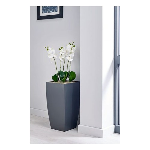 White Orchid Floor Standing Planter
