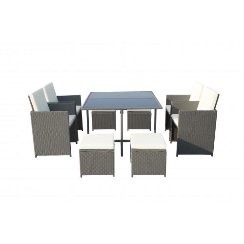 Venice Grey 8 Seater Cube Set