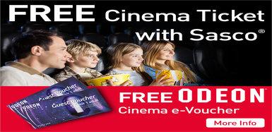 Free Odeon Cinema Ticket with Sasco