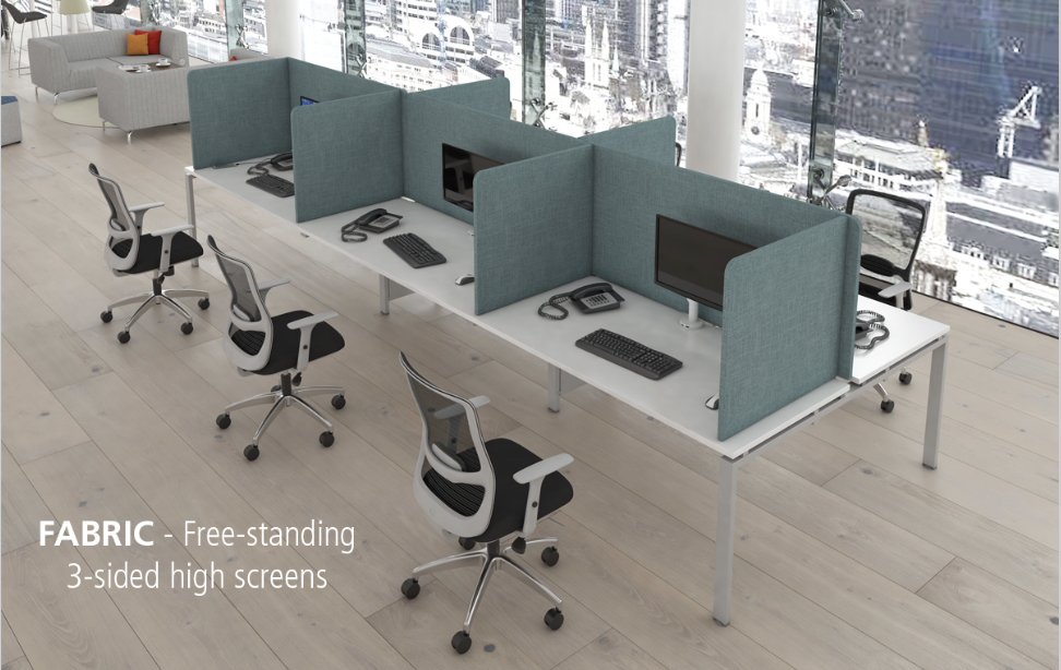 Fabric free standing protective booths