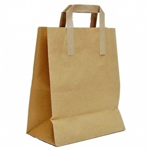 Tape Handle Brown Paper Carrier Bag (215x325x250mm) 250/box