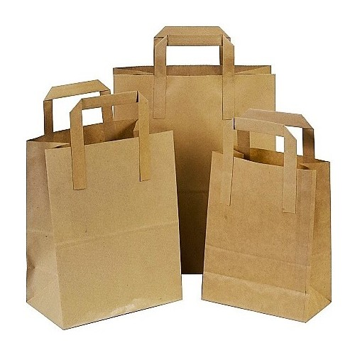 Brown Paper Bags - Tape Handle | Eco-Friendly Carrier Bags