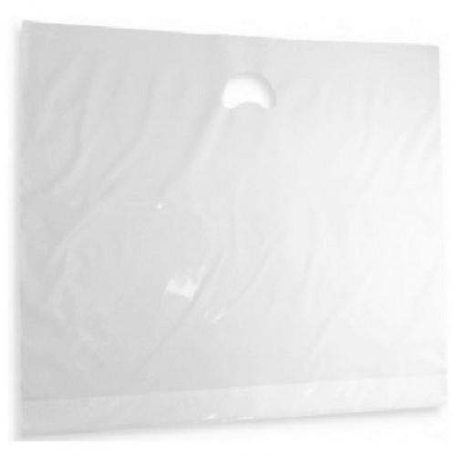Polythene Varigauge Carrier Bags - White (710x598mm) 250/box