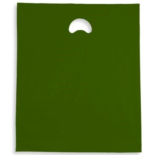 Harrods Green Polythene Varigauge Carrier Bag (375x457mm) 500/box