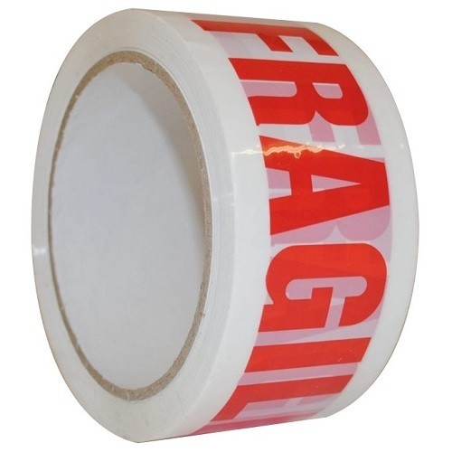 Fragile Printed Tear Resistant Vinyl Tape (50mmx50m) roll