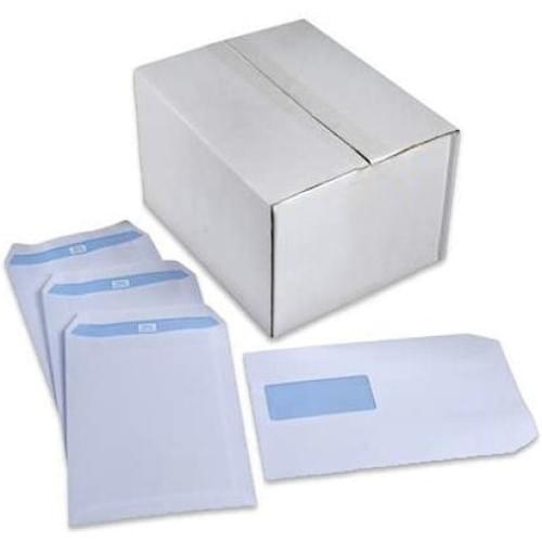 Envelope C5 229x162mm White Window Self Seal 90gsm Box 500