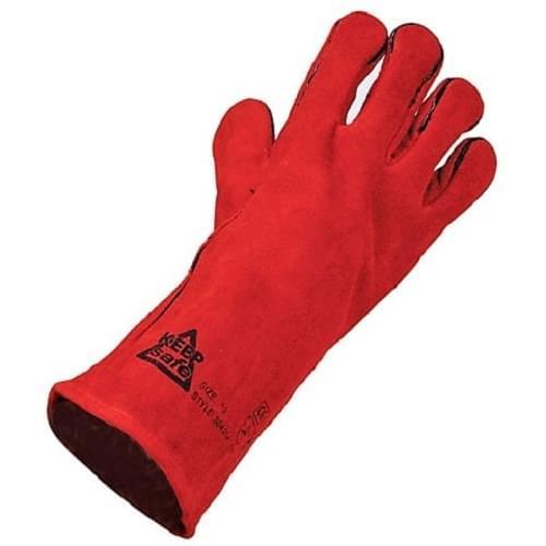Red Welder Gauntlet Gloves  Size 11