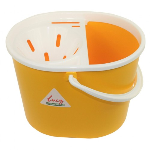 Plastic Bucket with Plastic Wringer  8 litres