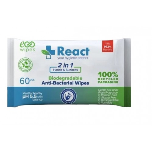 Disinfectant Wipes Hand & Surface Pack 60