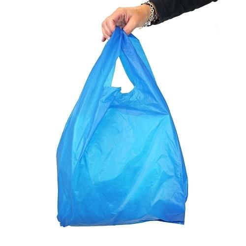 Blue Polythene Vest Carrier Bag (310x440x590mm) 1000/box
