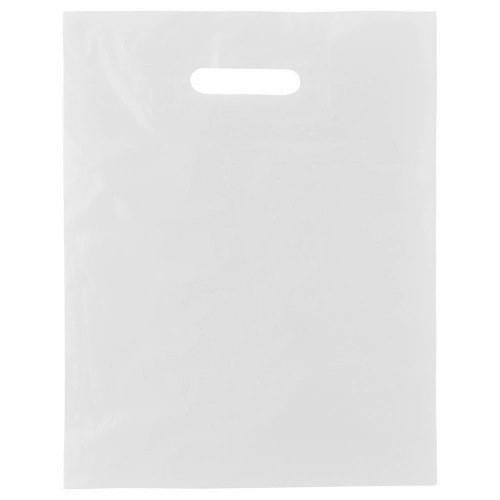 White Polythene Patch Handle Carrier Bag (300x300mm) 500/box
