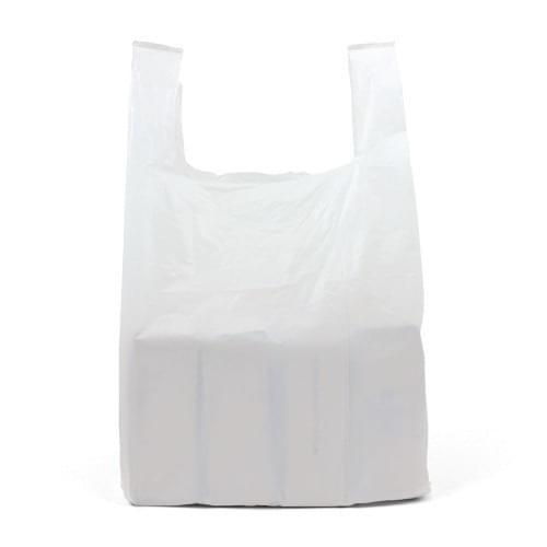 White Polythene Vest Carrier Bag (330x500x580mm) 1000/box