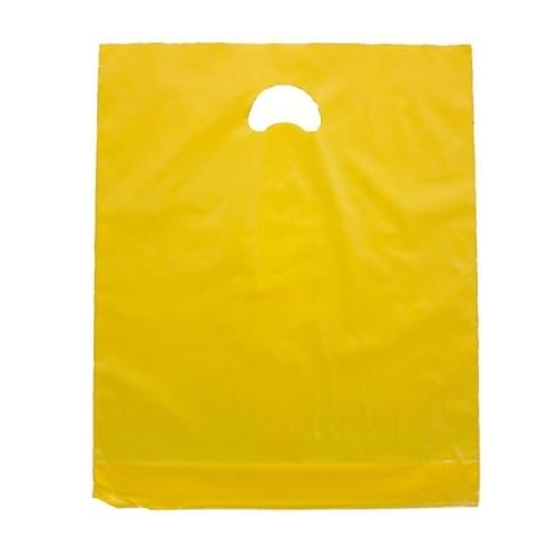 Yellow Polythene Varigauge Carrier Bag (375x457mm) 500/box