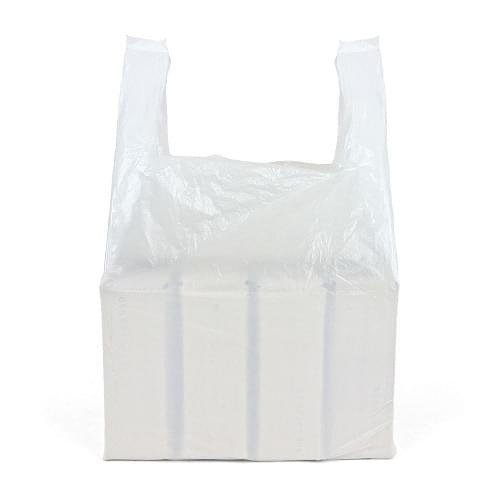 White Polythene Vest Carrier Bag (272x425x600mm) 1000/box