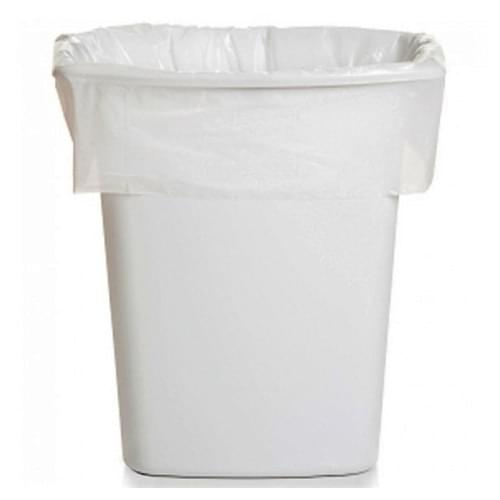 Square H/Duty Bin Liner White  15x24x24