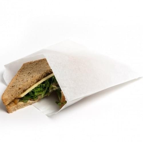 Strung White Paper Bag (150x182mm) 1000/pack