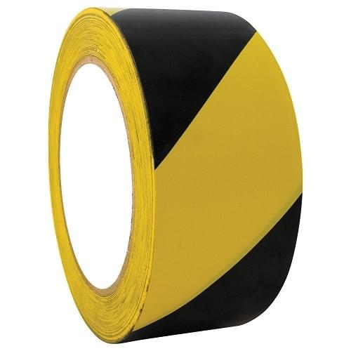 Hazard Tape Black & Yellow  50mmx33m roll