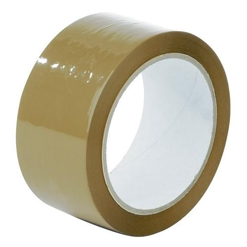 Low Noise Polypropylene Buff Packing Tape  50mmx66m Roll