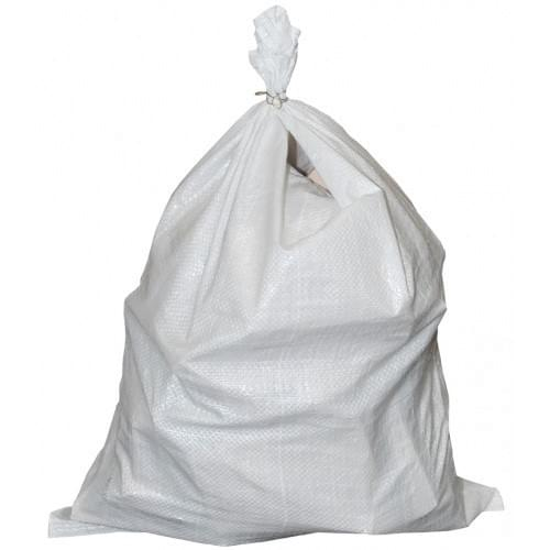 "Polyprop White Woven Sack 500x750mm (20x30"") 100/pack"