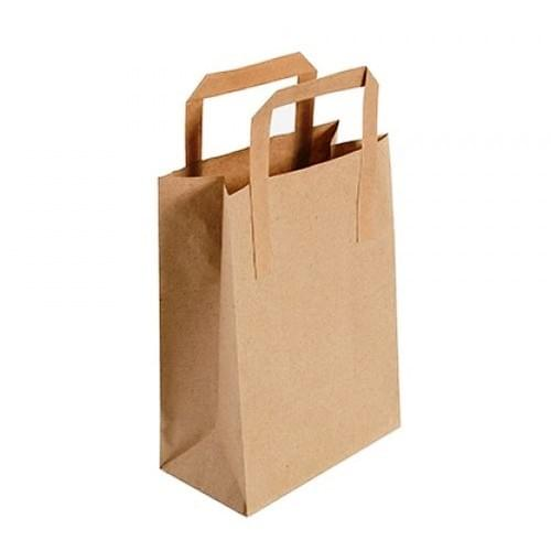 Tape Handle Brown Paper Carrier Bag (175x260x225mm) 250/box