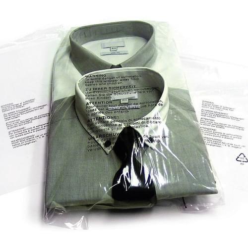 "Garment Bag Resealable Clear - PP100 Sweater bag 14x17+1.5"" (350x425+38mm) 1000/box"
